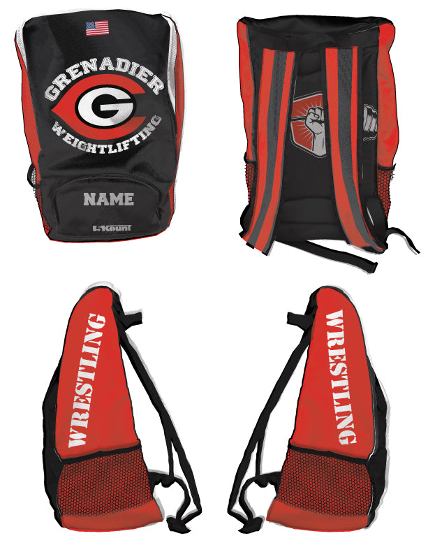 Colonial HS Weightlifting Sublimated Backpack