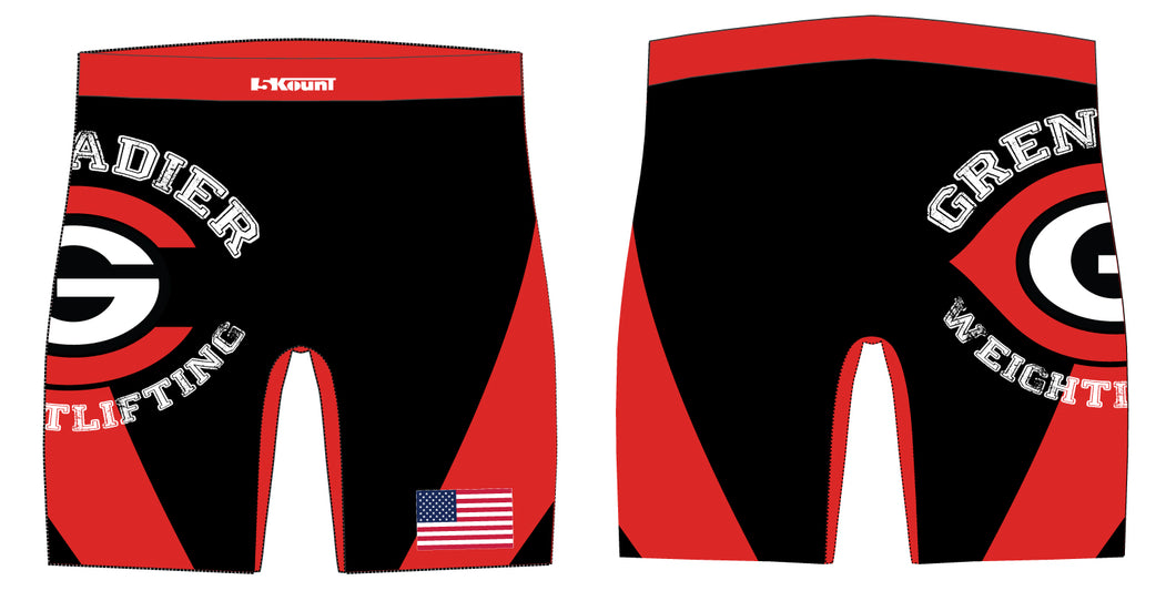 Colonial HS Weightlifting Sublimated Compression Shorts - 5KounT2018