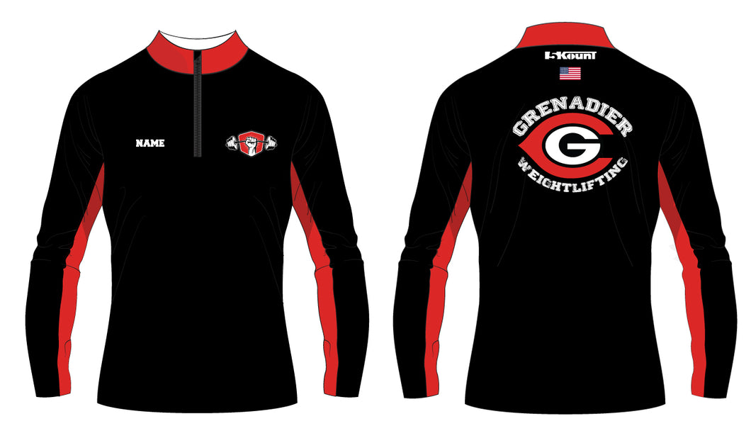 Colonial HS Weightlifting Sublimated Quarter Zip