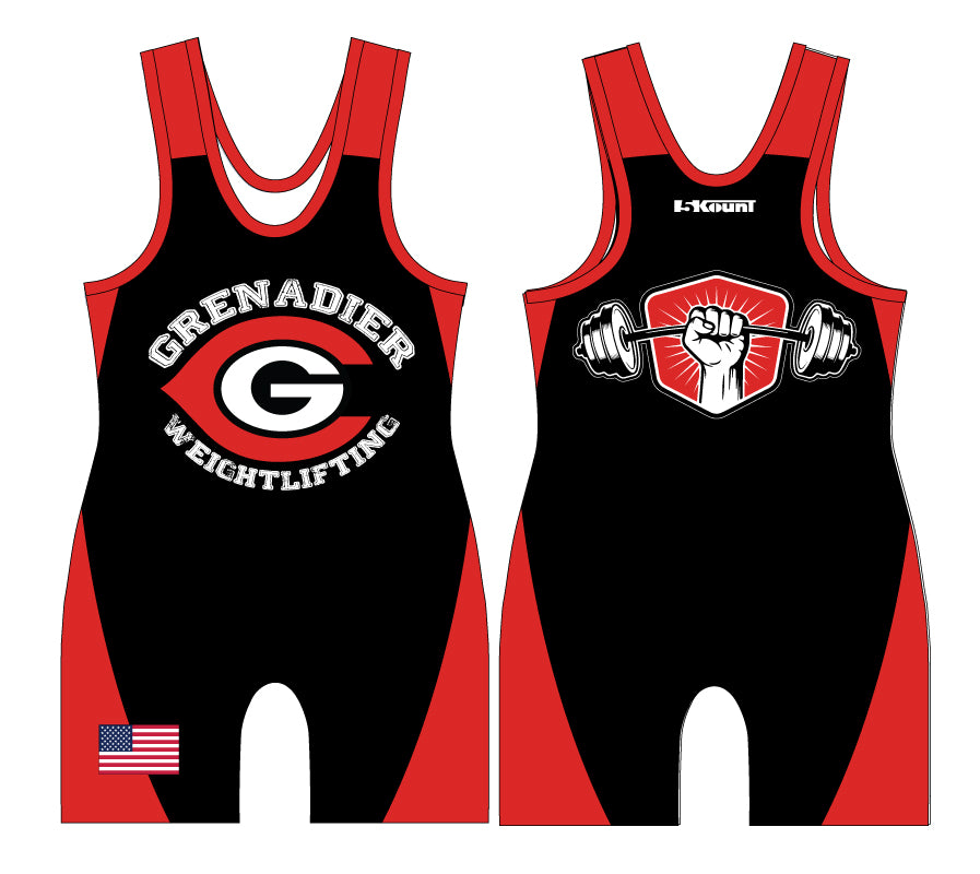 Colonial HS Weightlifting Sublimated Singlet - 5KounT2018