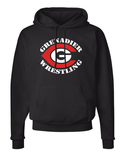 Colonial High School Wrestling Cotton Hoodie - Black