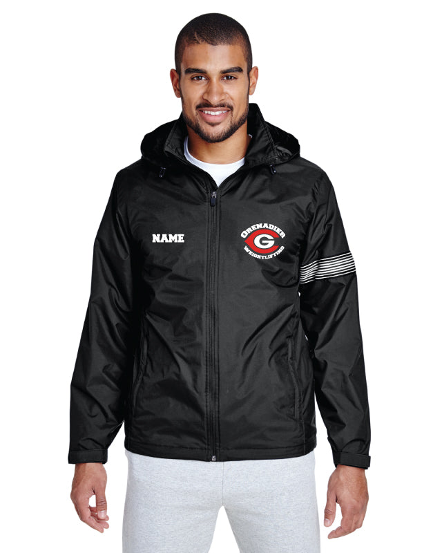 Colonial HS Weightlifting All Season Hooded Jacket - Black