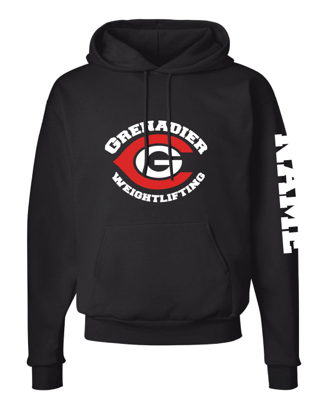 Colonial HS Weightlifting Cotton Hoodie - Black