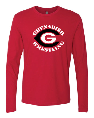 Colonial High School Wrestling Long Sleeve Cotton Crew - Red