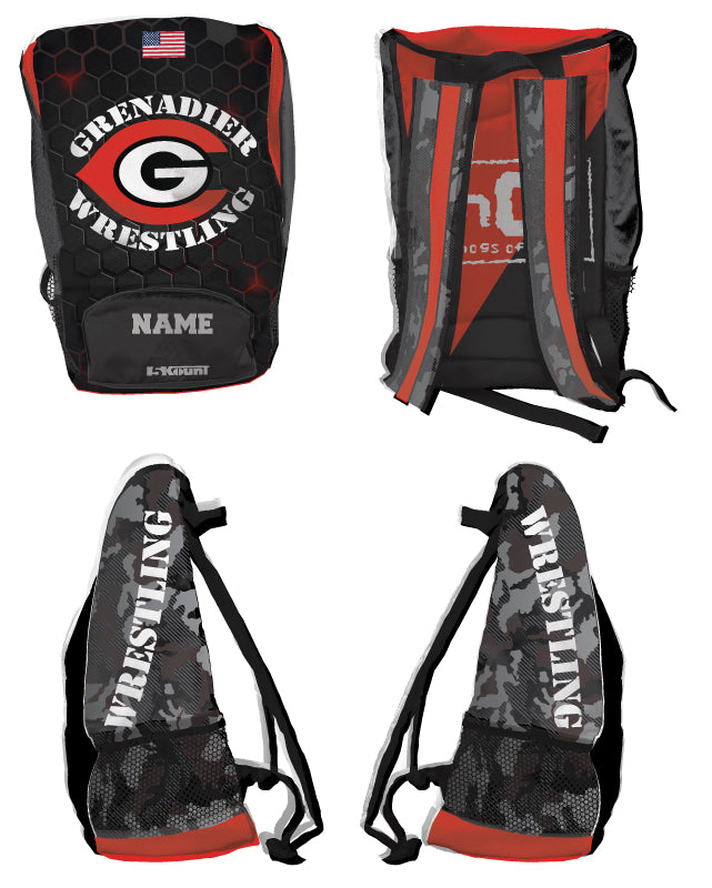 Colonial High School Wrestling Sublimated Backpack - 5KounT2018