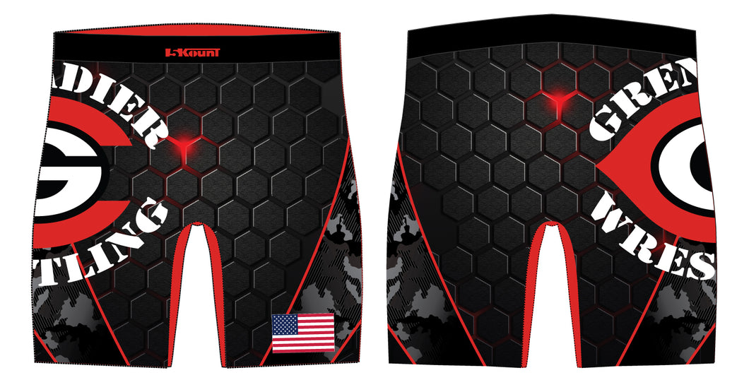 Colonial High School Wrestling Sublimated Compression Shorts - 5KounT