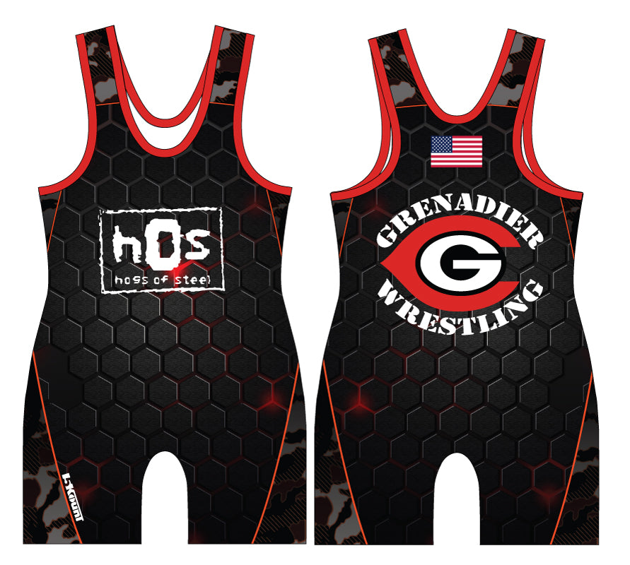 Colonial High School Wrestling Sublimated Singlet - 5KounT