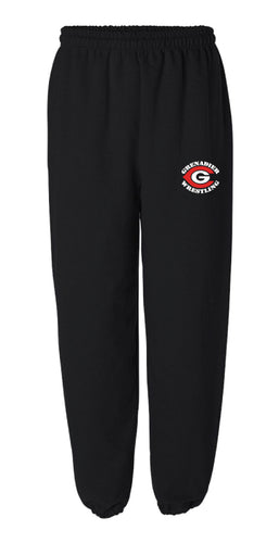 Colonial High School Wrestling Cotton Sweatpants - Black
