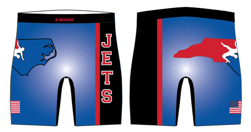 NC Jets Wrestling Sublimated Compression Shorts - 5KounT2018