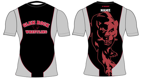 NEW Glen Rock Youth Wrestling Sublimated Compression Shirt