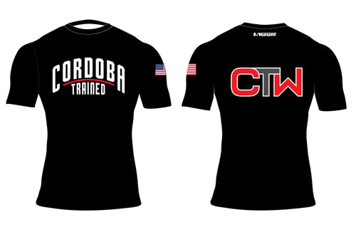 Cordoba Trained Sublimated Compression Shirt - Black/Red/Red and Black/Black And Gray