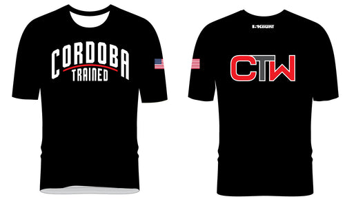 Cordoba Trained Sublimated Fight Shirt Black/White/Grey