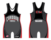 Cordoba Sublimated Singlet Black/Red - 5KounT2018