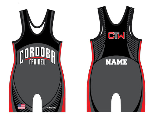 Cordoba Sublimated Singlet Black/Red