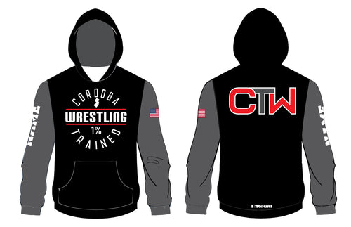 Cordoba Wrestling Sublimated Hoodie Black & Gray / Red & Gray / Black & Red