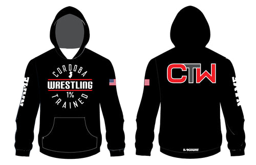 Cordoba Wrestling Sublimated Hoodie Black and Red