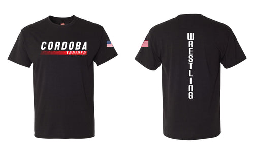 Cordoba Trained Wrestling Triblend Tee Black/Red/Gray