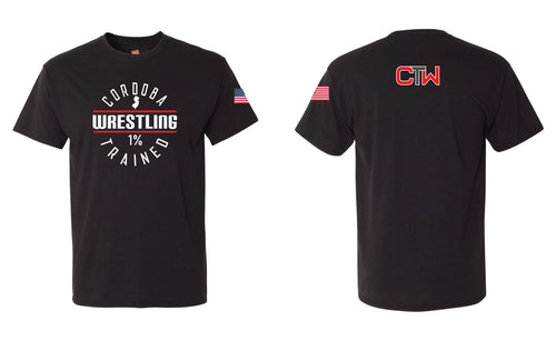 Cordoba Wrestling Triblend Tee - Black/Red/Gray