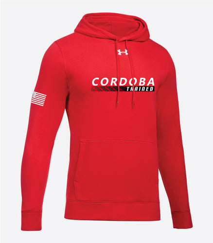 Cordoba Trained Under Armour Performance Hoodie Sweatshirt Red/Gray/Black