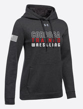 Cordoba Trained Rival Fleece Hoodie Sweat shirt Woman Black/Red/Gray - 5KounT