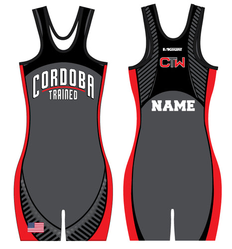 Cordoba Sublimated Singlet Women Red/Gray