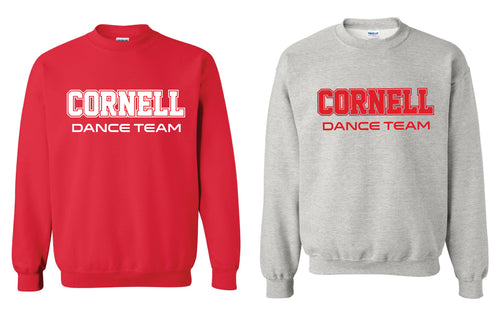 Cornell Dance Crewneck Sweatshirt - Red or Grey