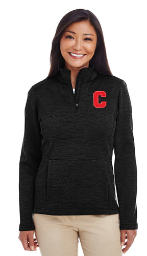 Cornell Dance Women's Fleece Quarter Zip - Black