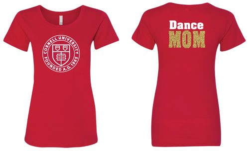Cornell Dance MOM Glitter Tee - Red