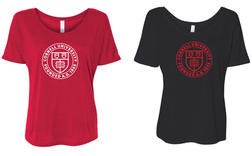 Cornell Dance Women's Slouchy Tee - Red or Black