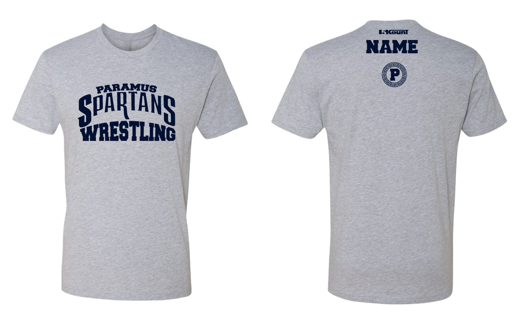 Paramus Wrestling Cotton Crew Tees - Grey