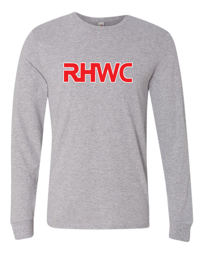 RedHawk Wrestling Club Long Sleeve Cotton Crew - Black/HeatherGrey