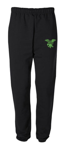RedHawk Wrestling Club Cotton Sweatpants - Black/Oxford - 5KounT2018
