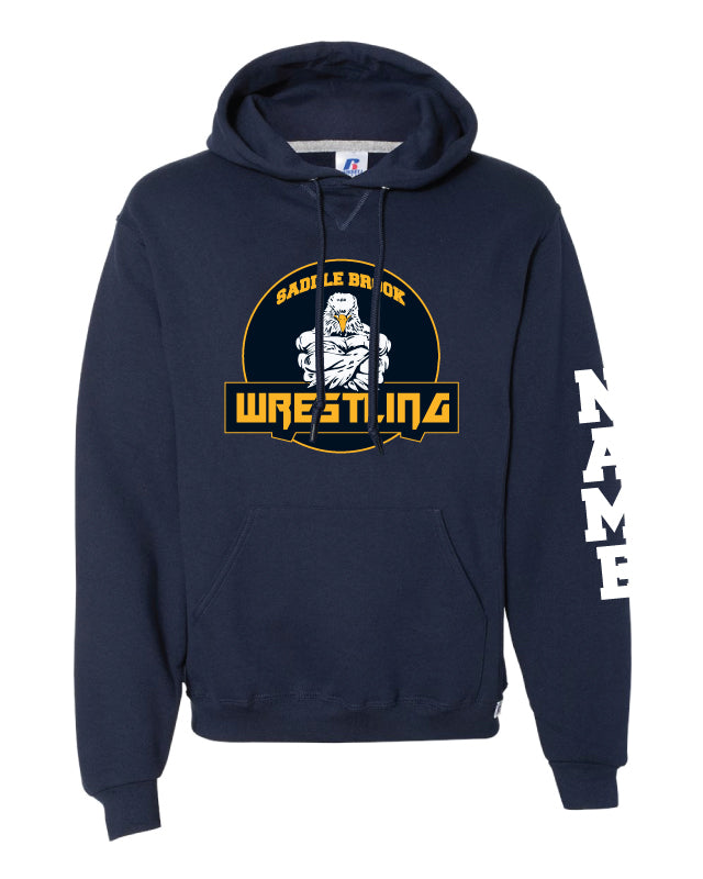 Saddle Brook Youth Wrestling Russell Athletic Cotton Hoodie 2 - Navy - 5KounT2018