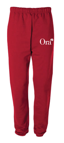 Ora Clinical Cotton Sweatpants - Black/Red - 5KounT2018