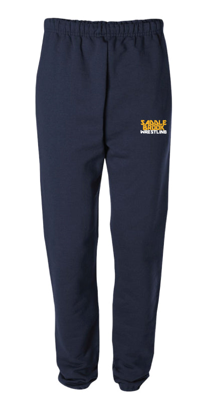 Saddle brook youth wrestling Cotton Sweatpants - Navy - 5KounT2018