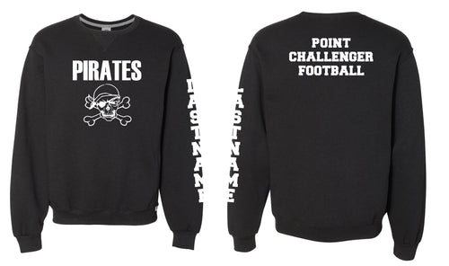 Challenger Football Russell Cotton Crewneck - Black - 5KounT2018