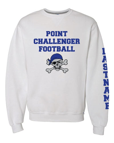 Challenger Football Russell Cotton Crewneck - White - 5KounT2018