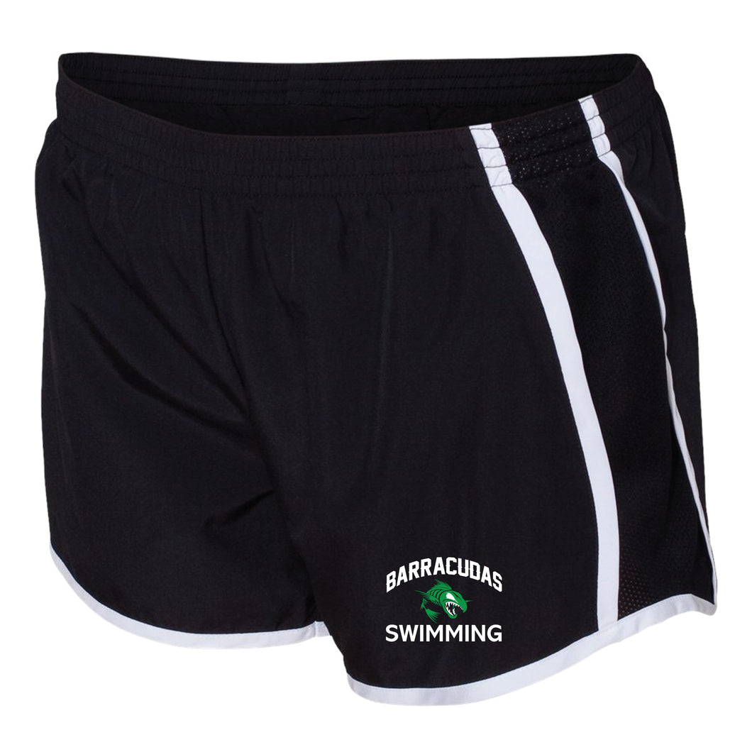 Currituck YMCA Barracudas Swimming Running Shorts - Black - 5KounT2018