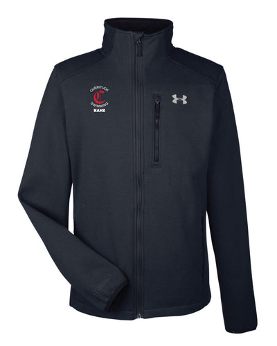 Currituck Swimming Under Armour Men's Granite Jacket - Black - 5KounT2018