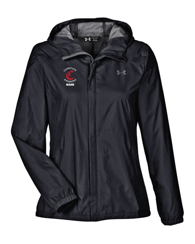 Currituck Swimming Under Armour Ladies' UA Bora Rain Jacket - Black - 5KounT2018