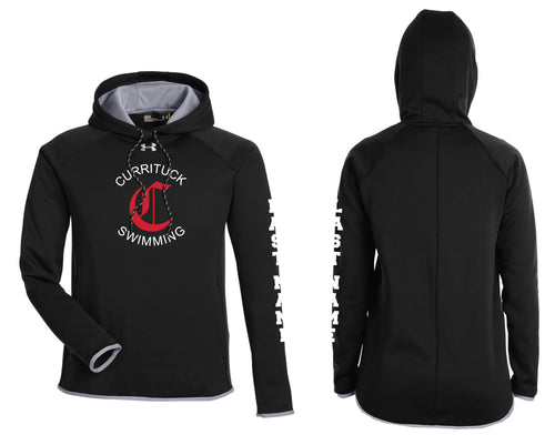 Currituck Swimming Under Armour Ladies' Double Threat Armour Fleece® Hoodie - Black - 5KounT2018