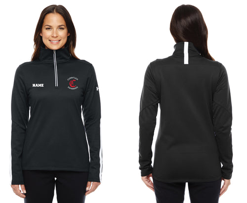 Currituck Swimming Under Armour Ladies' Qualifier 1/4 Zip - Black - 5KounT2018