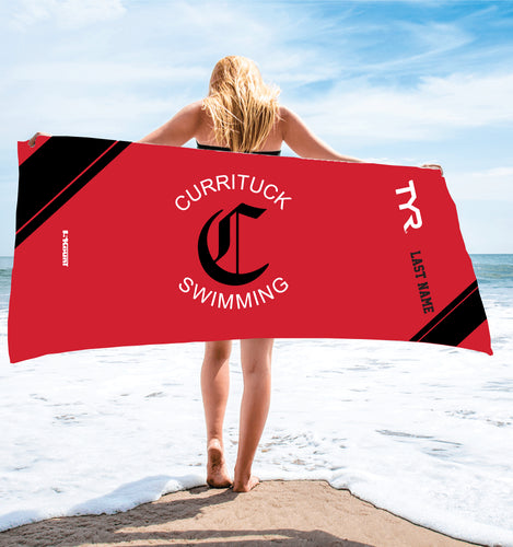 Currituck Swimming Sublimated Beach Towel - 5KounT2018