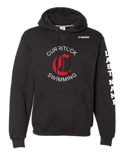 Currituck Swimming Russell Athletic Cotton Hoodie - Black - 5KounT2018