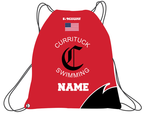 Currituck Swimming Sublimated Drawstring Bag - 5KounT2018