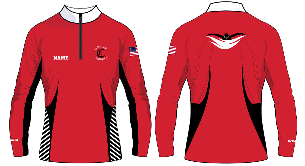 Currituck Swimming Sublimated Quarter Zip - 5KounT2018