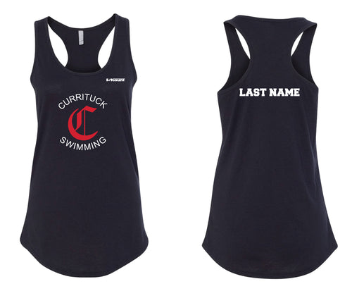 Currituck Swimming Ladies' Cotton Tank Top - Black - 5KounT2018