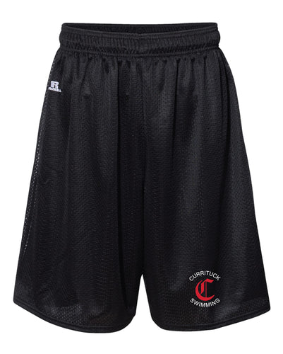 Currituck Swimming Russell Athletic  Tech Shorts - Black - 5KounT2018