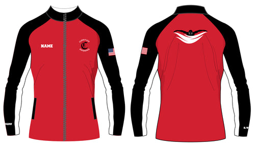 Currituck Swimming Sublimated WarmUp Full Zip Jacket - 5KounT2018