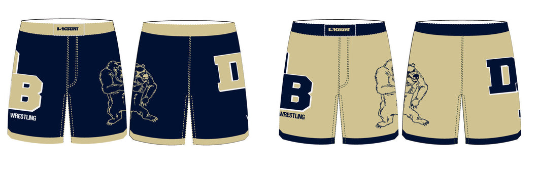 DB Sublimated Fight Shorts - 5KounT2018